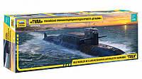Атомная подводная лодка «Тула» проекта «Дельфин». Сборная модель в масштабе 1/350. ZVEZDA 9062