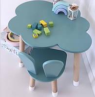 """Детский деревянный набор стол """"облако"""" и стульчик. 100% дерево массив бук"""