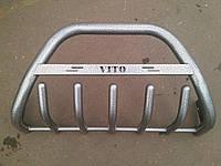 Защита переднего бампера (кенгурятник) порошок/ черный мат Mercedes-benz vito (w639) (мерседес-бенц вито) 2004