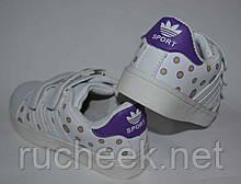 Кроссовки для девочки ВВТ. Белые мокасины