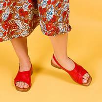 Босоножки бежевые кожаные на плоском каблуке  Размерный ряд 36-40, фото 2