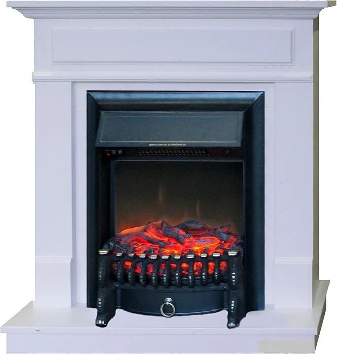 Пристенный каминокомплект IDaMebel Margo эффект пламени работает независимо от обогрева со звуком