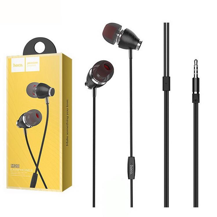 Наушники с микрофоном Hoco M28 (Черные)