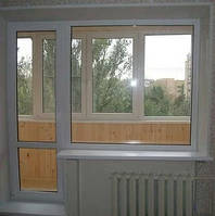 Балконный блок (дверь и окно) энергосберегающие из 6-камерн профиля WDS