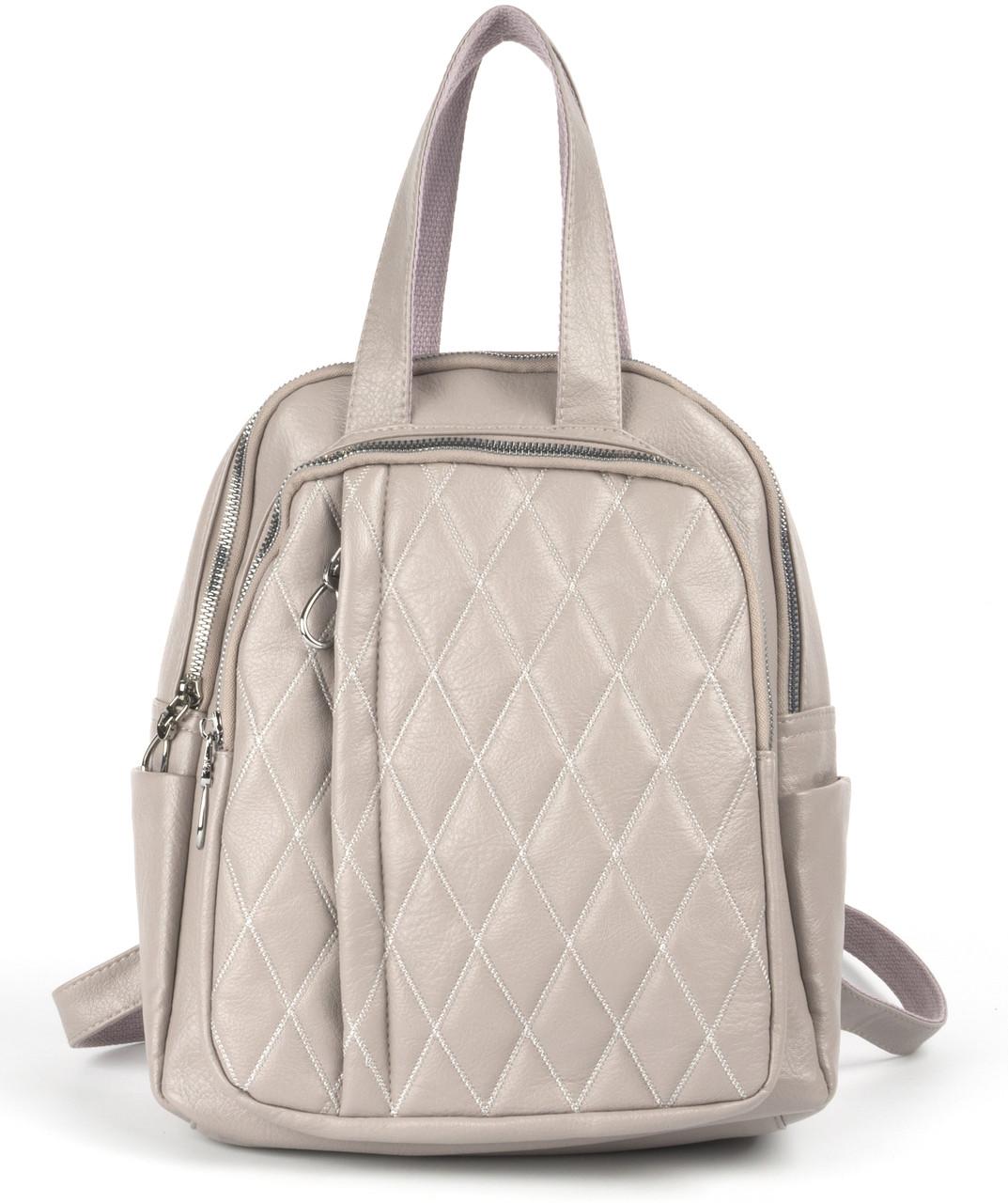 Прочный оригинальный женский рюкзак Jinsichong art. 20-Т3 пудровый