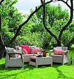 Комплект садовой мебели Allibert by Keter Corfu Set Cappuccino ( капучино ), фото 10