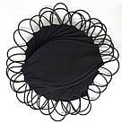 """Захисна БАГАТОРАЗОВА чорна маска з принтом під фільтр/ Комплект 5 штук тематики """"Еко"""", фото 2"""