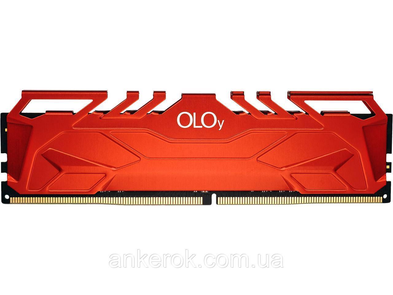Оперативна пам'ять OLOy Owl 16Gb (2x8Gb) DDR4 3000 MHz Red (MD4U083016BHDA)