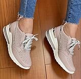 Жіночі кросівки Inshoes пудрові, фото 3