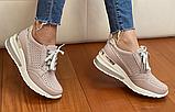Жіночі кросівки Inshoes пудрові, фото 5