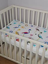 Детская деревянная кроватка маятник . Цвет- бежевый