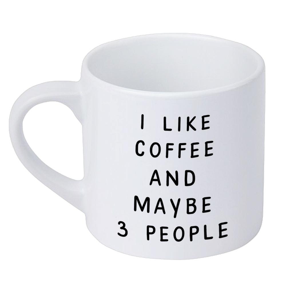 Кружка маленькая I like coffee and maybe 3 people 170 мл (KRD_20M020)