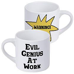 Кружка маленькая Evil genius at work (KRD_20M021)