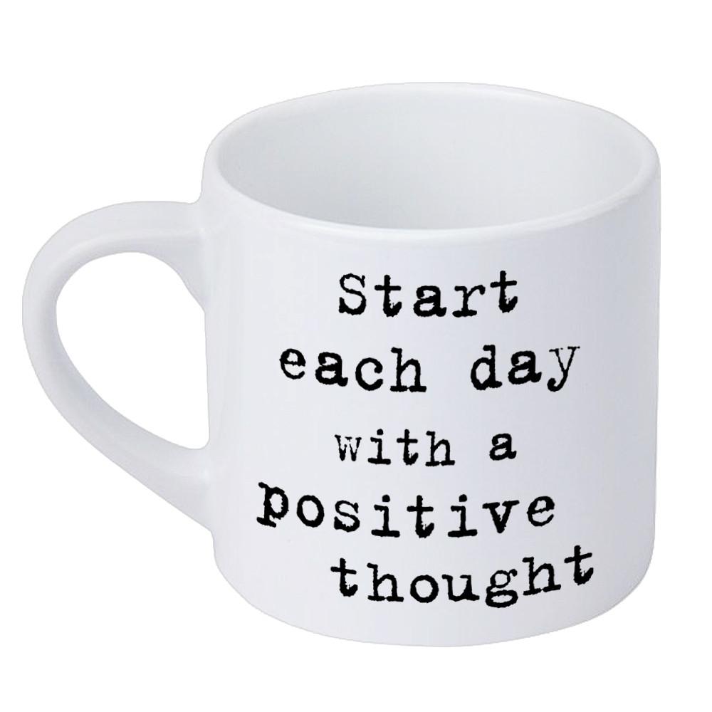 Кружка маленькая Start each day with a positive thought 170 мл (KRD_20M022)