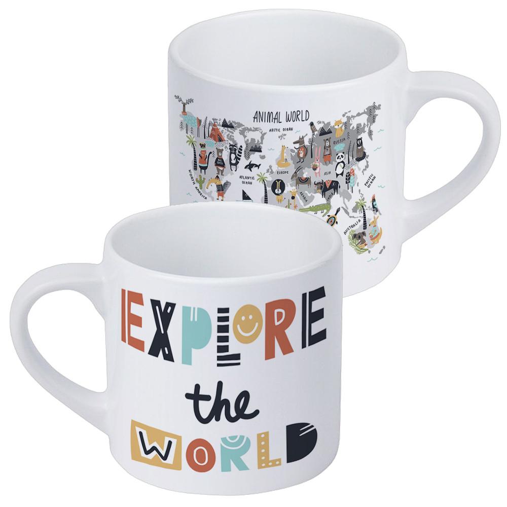 Кружка маленькая Explore the world (KRD_20M066)