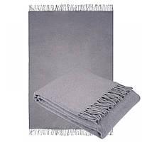 Плед из шерсти мериноса серого цвета 140х200