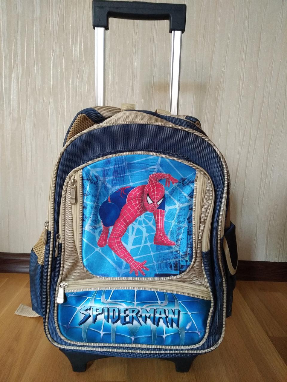 Рюкзак на колесах  для детей школьного  возраста , съемный троллей   размер 42Х30Х15