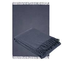 Плед из шерсти мериноса темно-серого цвета 140х200