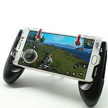 Беспроводной геймпад триггер для смартфонов Union PUBG Mobile 5in1 Black (014)