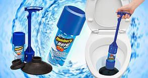 Вантуз для унитаза и канализационных труб Plumber's Hero