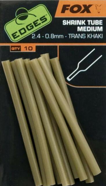 Термоусадки Fox Edges shrink tube medium 2.4-0.8mm trans khaki x 10pcsi