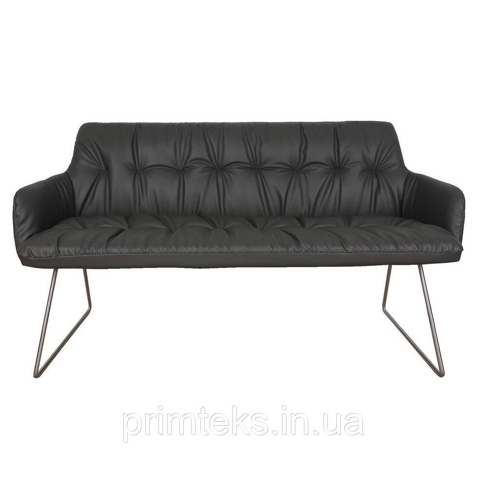 Кресло- банкетка LEON (Леон) тёмно-серое