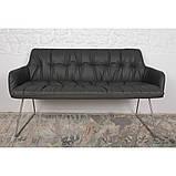 Кресло- банкетка LEON (Леон) тёмно-серое, фото 5