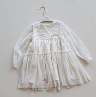 Детское платье нарядное белое для девочки Flavien 7077/01