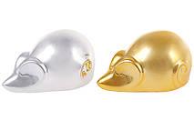 Декоративная фигурка Мышка, 8см, 2 вида - серебро, золото глянец