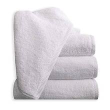 Рушник махровий для обличчя і рук, класичне біле, 50х90см.