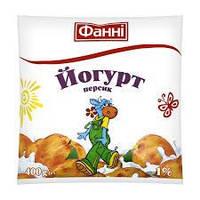 Йогурт Фані  Персик 1% п/е 400гр