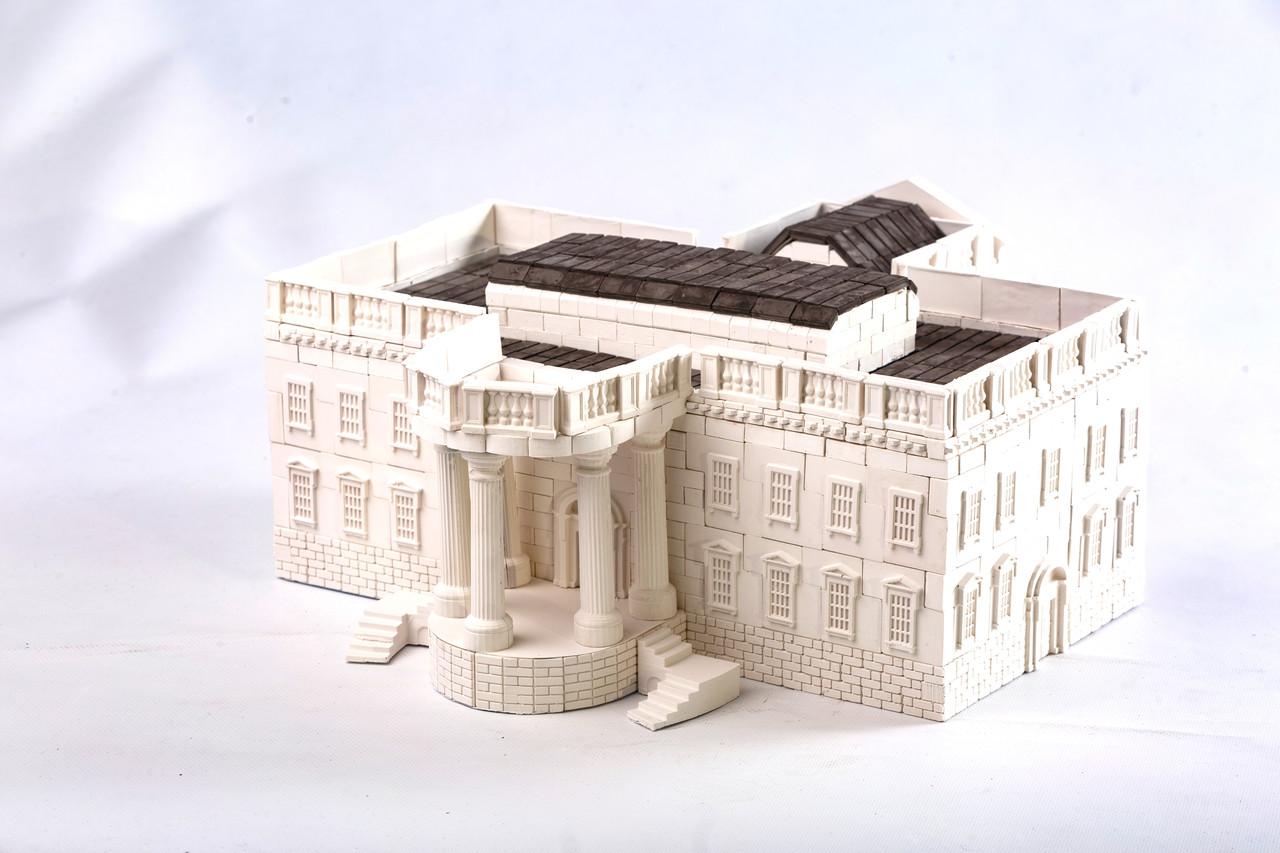 Білий дім (США) | Конструктор з міні-цеглинок | 960 деталей | Країна замків та фортець (Україна)