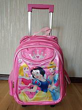 Рюкзак на колесах для детей школьного возраста со съемным троллем, размер 42х30х15