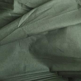 Польская хлопковая ткань темно-зелёная 160 см