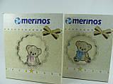Плед детский Merinos Хлопок  Голубой 100х120, с вышивкой, фото 8