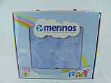 Плед детский Merinos Серо-голубой 100х120, фото 6