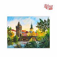 """Полотно на картоні з контуром, Міста """"Прага"""", 30*40, бавовна, акрил, ROSA START GPA284204"""
