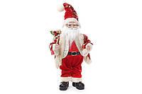 Новогодняя музыкальная игрушка Санта 40.5м, цвет - красный