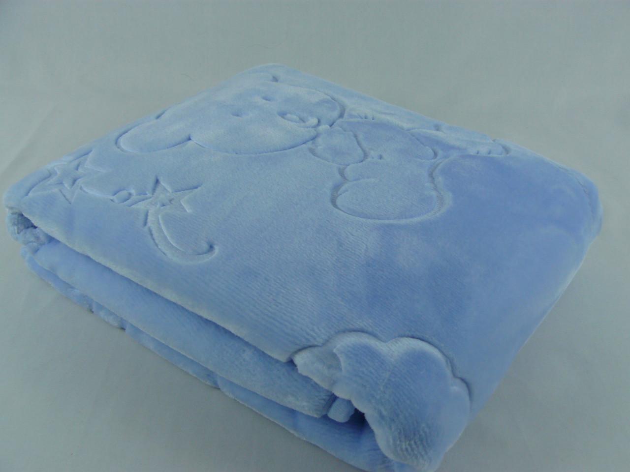 Плед детский Merinos Серо-голубой 100х120