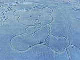 Плед детский Merinos Серо-голубой 100х120, фото 3