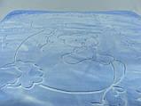 Плед детский Merinos Серо-голубой 100х120, фото 4