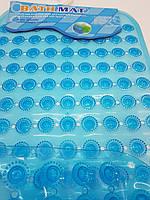 """Силіконовий килимок  """"Пупирки""""37х67см.синій."""