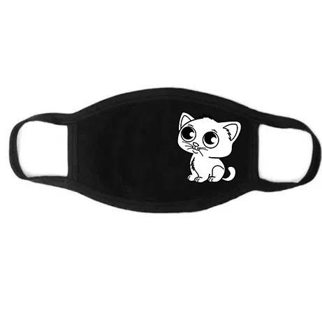 Защитная черная многоразовая маска для лица