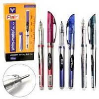 Ручка масляная, шариковая 10 км  ʺFlairʺ №743 BL Writo-meter, цвета синяя, черная, красная