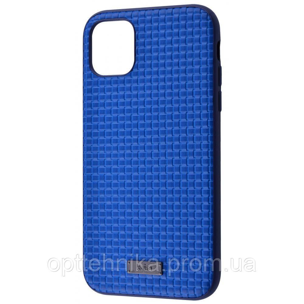 Kajsa Weaving Pattern Series (Genuine Leather) iPhone 11 blue