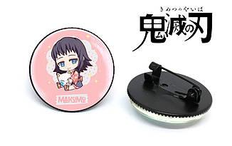 "Значок ""Makomo""Клинок, рассекающий демонов / Demon Slayer: Kimetsu no Yaiba"