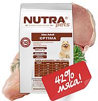 Корм сухой для взрослых собак малых пород NUTRA pets Regular Mini Adult OPTIMA 10 кг