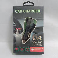 Автомобильное зарядное устройство 2 юсб 2.1 А car charger 009
