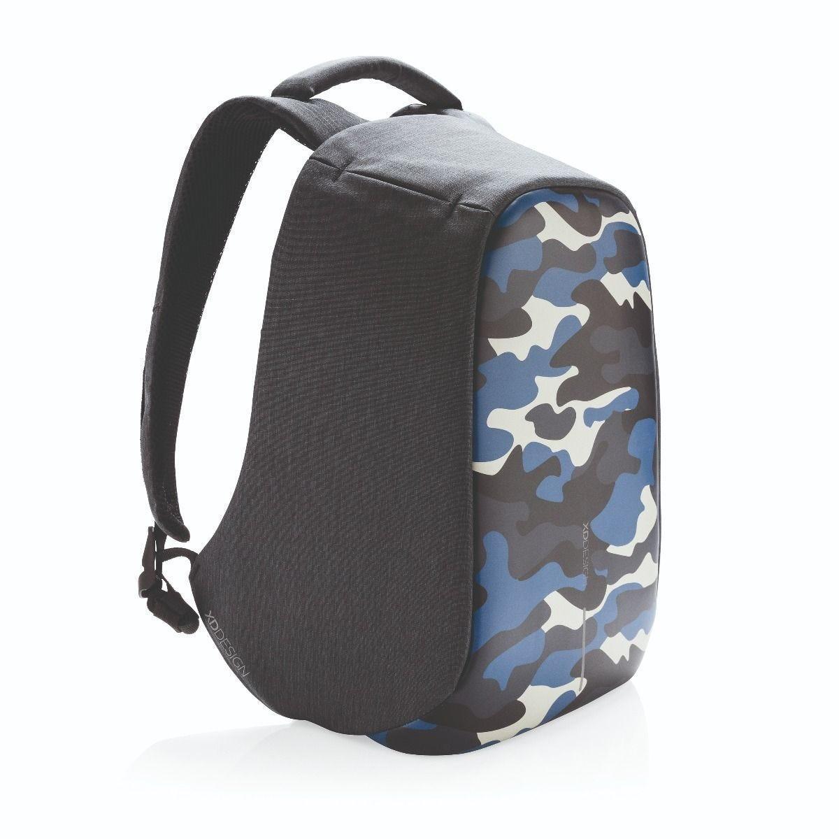 """Рюкзак городской с защитой от краж XD Design Bobby Compact 14"""", Camouflage. Blue"""
