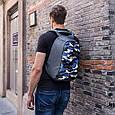 """Рюкзак городской с защитой от краж XD Design Bobby Compact 14"""", Camouflage. Blue, фото 10"""